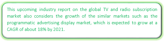TV and Radio Subscription Market - Industry Analysis, Market